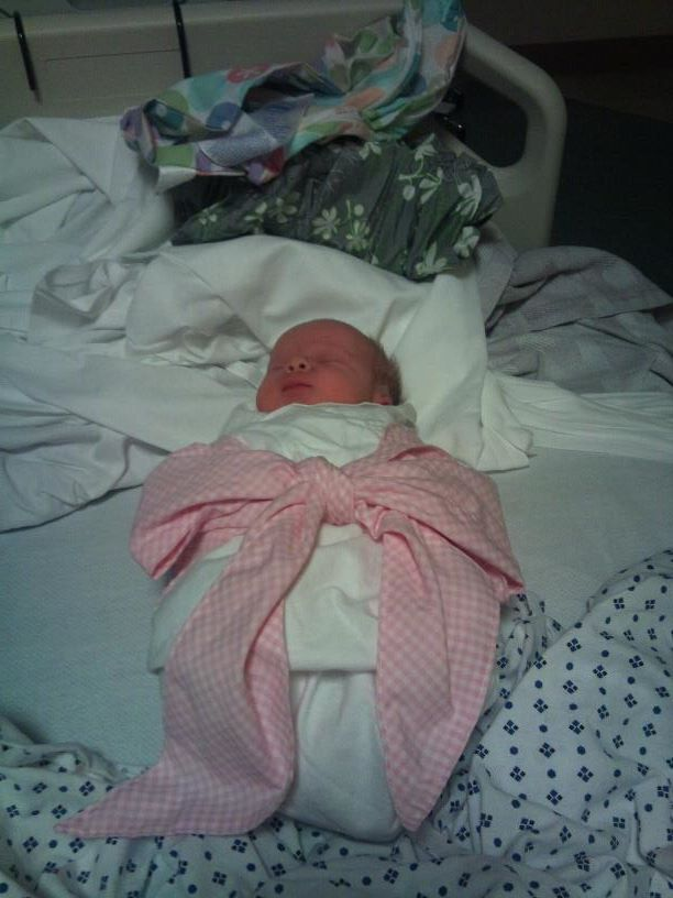 Sweet Bow Swaddle.  Oh, my heart melts when I look at this picture.